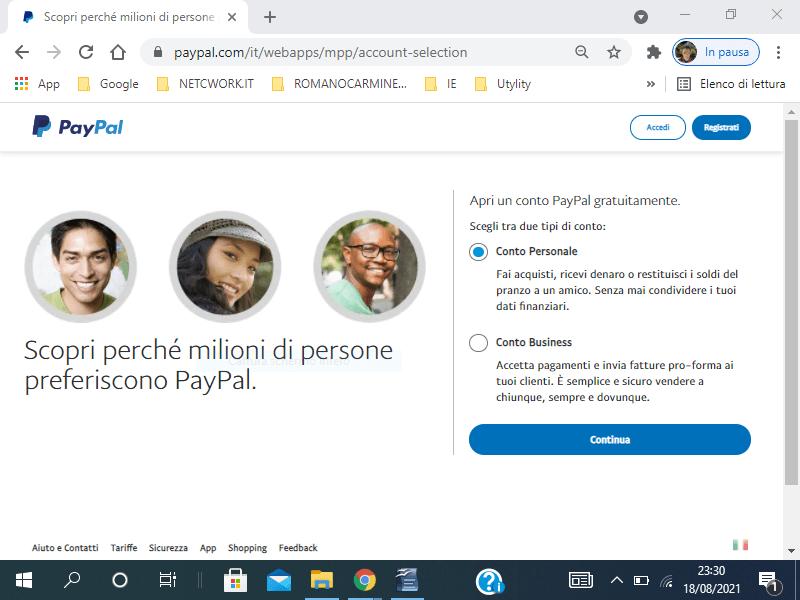 Come creare un account PayPal