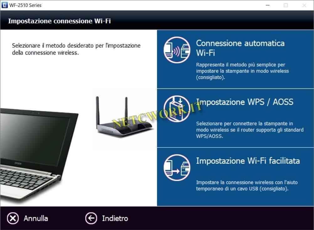 Connessione WiFi Epson wf 2510
